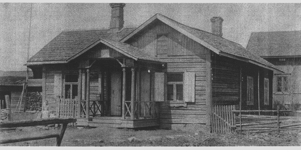 Cederin kauppa 1800 - 1900 lukujen vaihteessa. Takana näkyy Mattilan talon päärakennus. (Maissi Mannisen kuvakokoelmasta)