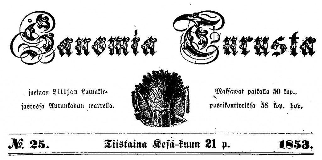 Sanomia_Turusta_21.6.1853-_1